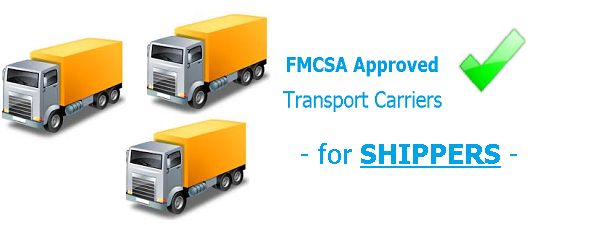 FMCSA Approved, Pre-Qualified Transport Carriers